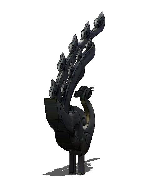 荆楚文化雕塑小品su设计模型[原创]