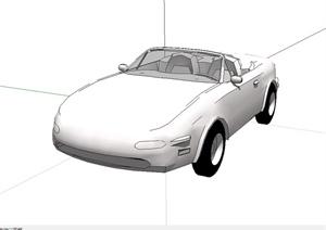 敞篷跑车设计SU(草图大师)模型