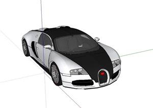 详细精致完整的跑车设计SU(草图大师)模型