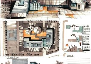 多张详细的大禹建筑快题设计jpg方案