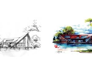 多张详细的建筑手绘表现jpg效果图