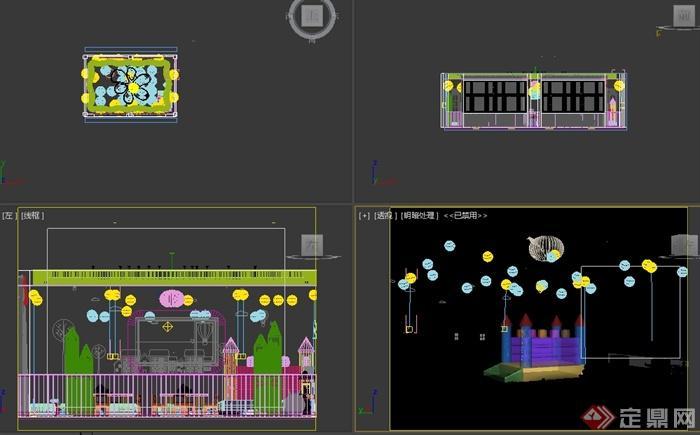 幼儿园教室室内设计3d模型[原创]