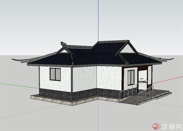 中式古典公厕su模型 效果图[原创]