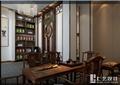 现代中式风格黄山路茶室设计cad方案及效果图