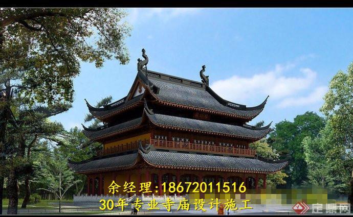 寺廟圖紙設計,寺廟圖紙制作,寺院圖紙設計