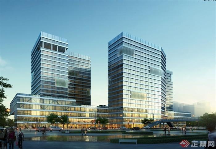现代风格详细城市中心商业办公楼设计pdf方案[原创]