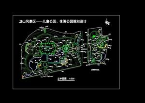 格详细休闲公园cad总平面图-园林景观设计方案效果图设计素材教学