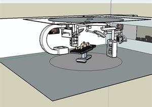 某详细的大C手术室设备设计SU(草图大师)模型