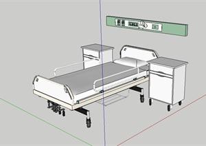 某医院室内床设计SU(草图大师)模型
