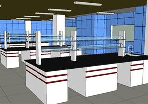 生化室详细设计SU(草图大师)模型