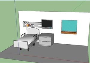 病床详细设计SU(草图大师)模型
