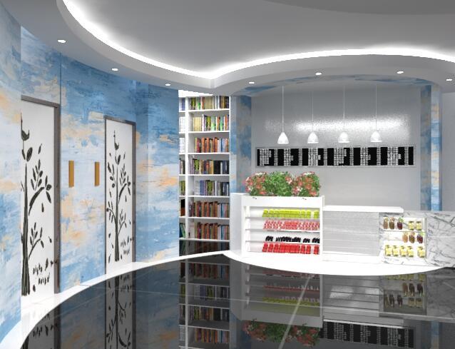 详细的办公空间室内设计CAD图3dmax模型及效果图