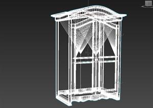 现代风格详细的飘窗设计3d模型