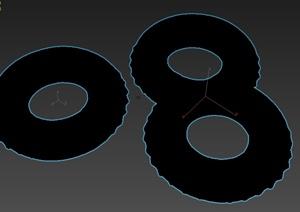 游泳圈小品设计3d模型