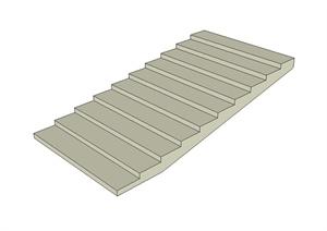 简单的建筑楼梯SU(草图大师)模型