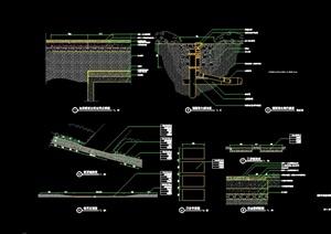 某道路景观施工图通用cad详图-道路节点资料园林景观