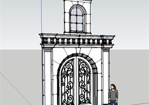 欧式风格建筑门窗设计SU(草图大师)模型