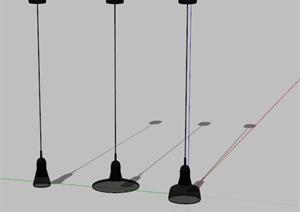 多个不同的吊灯设计SU(草图大师)模型
