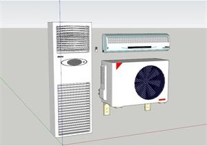 某空调及内外机设计SU(草图大师)模型