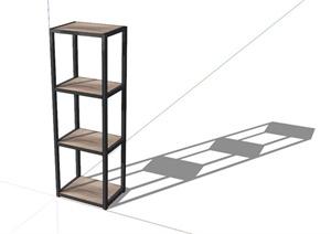 铁艺书架设计SU(草图大师)模型
