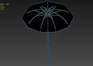 现代风格详细独特完整的遮阳伞设计3d模型