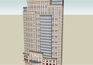 宝龙详细高层办公建筑楼设计SU(草图大师)模型