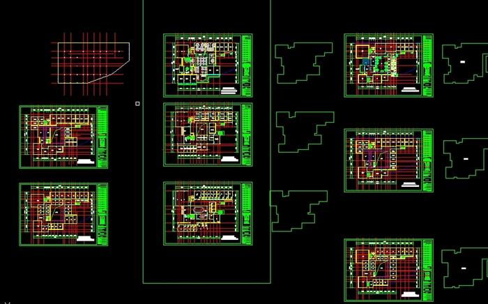 现代连锁餐馆建筑方案SU模型 带CAD平面图