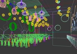现代你风格幼儿园教室设计3d模型