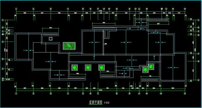 现代风格详细的精品游客服务中心建筑cad施工图[原创]图片