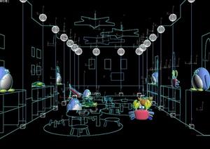 幼儿园教室详细设计3d模型