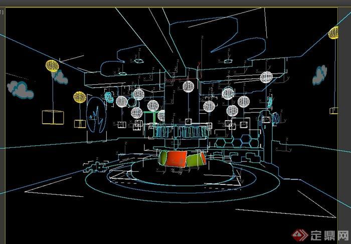 现代风格绿色森林主题幼儿园设计3d模型[原创]