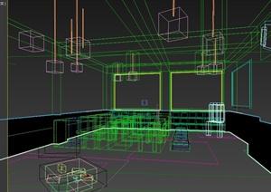 现代风格小教室室内设计3d模型