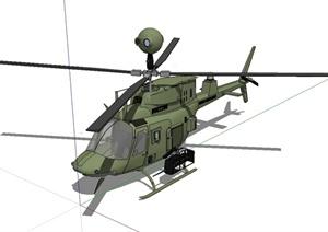 直升飞机详细完整设计SU(草图大师)模型