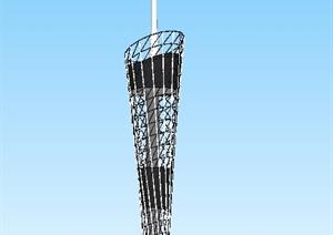 现代广州电视塔SU(草图大师)模型