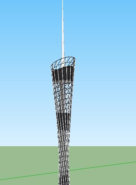 现代广州电视塔SU模型(3)