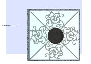通风井景观处理方案SU(草图大师)模型