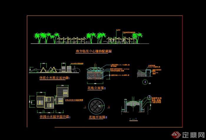 现代强度简单的详细风格建筑cad施工图[Mode图纸木屋图片