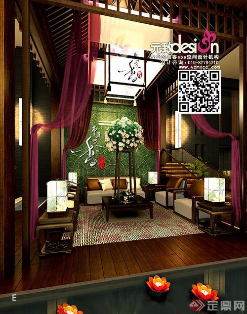 优雅古典的中式养生会所装修设计