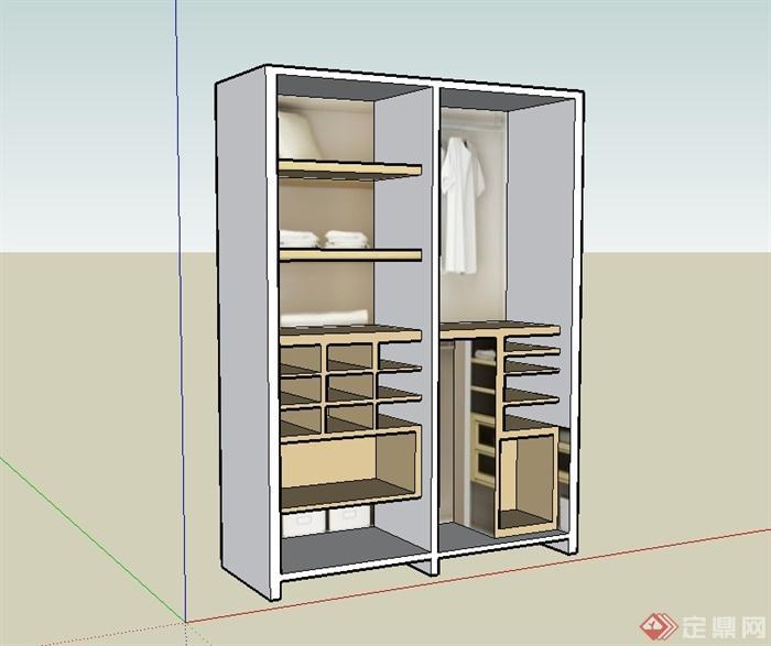草图大师设计衣柜