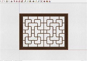 29种不同的中式窗格设计SU(草图大师)模型