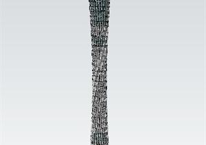 广州电视观光塔建筑SU(草图大师)模型