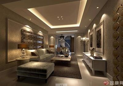 二层欧式风格别墅室内设计施工图及效果图
