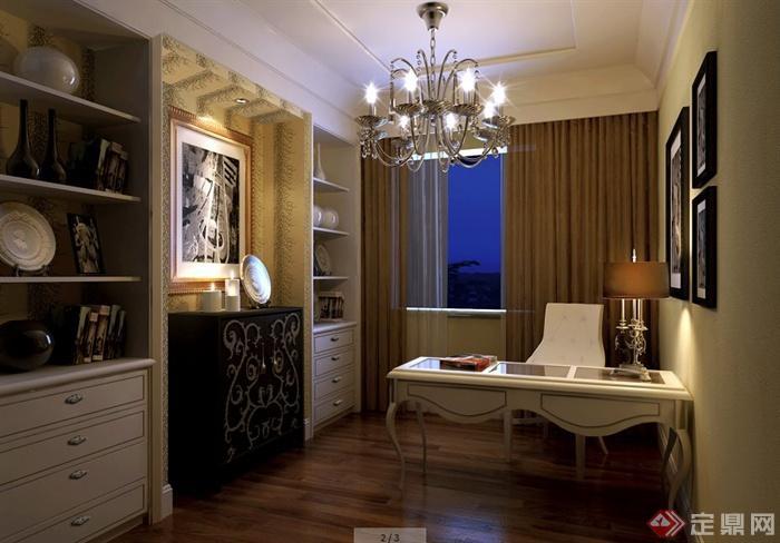 二层欧式风格别墅室内设计施工图及效果图(2)