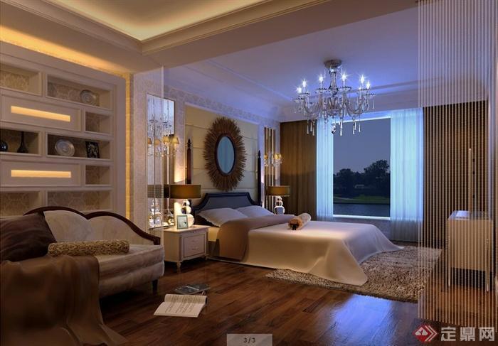 二层欧式风格别墅室内设计施工图及效果图(3)