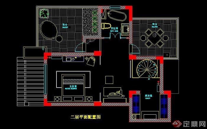 二层欧式风格别墅室内设计施工图及效果图(5)
