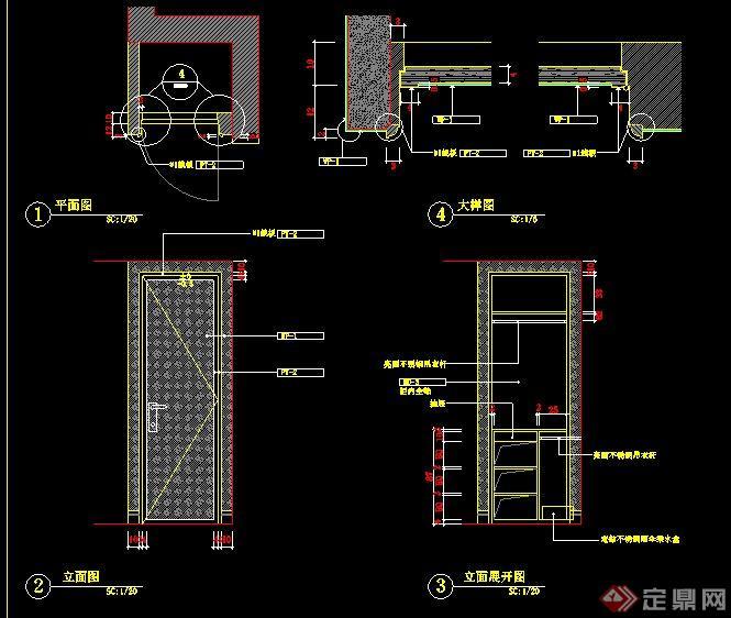 二层欧式风格别墅室内设计施工图及效果图(6)