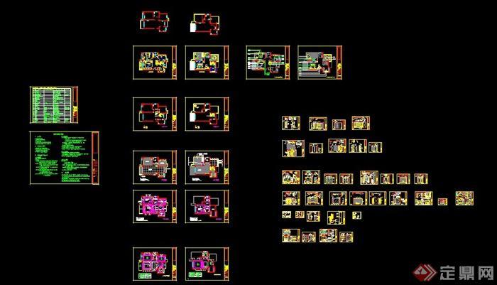 二层欧式风格别墅室内设计施工图及效果图(8)