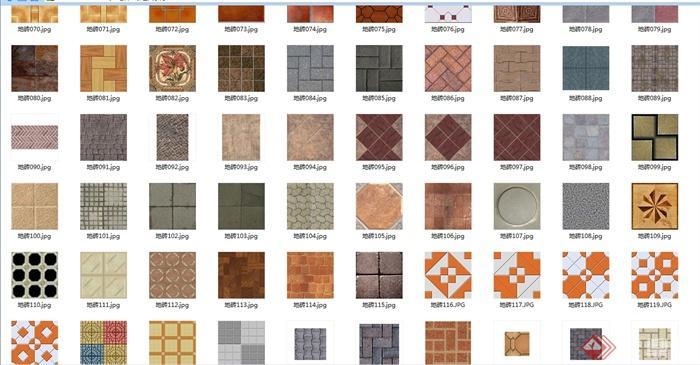 多种不同的地面地砖铺装贴图[原创]