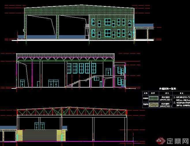 现代风格学校多功能厅设计施工图图片