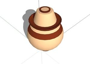 陶罐小品设计SU(草图大师)模型